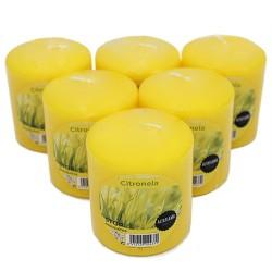 6 Velas citronela 80x70mm