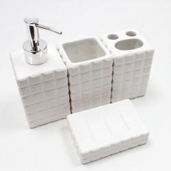 Juego baño cuadrados 4 piezas