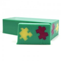 Jabón diseño puzzle - lilas
