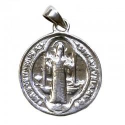 Colgante plata - medalla San Benito
