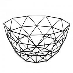 "Bol diseño geométrico negro ""Golden Chic"" 14 x 26 cm"