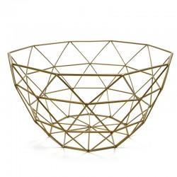 "Bol diseño geométrico dorado ""Golden Chic"" 14 x 26 cm"