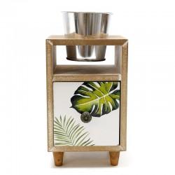 Mueble con macetero y cajón hojas 10x23.5x12cm
