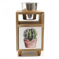 Mueble con macetero y cajón cactus 10x23.5x12cm