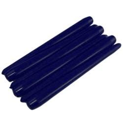 50 Velas candelabro cónicas - azules