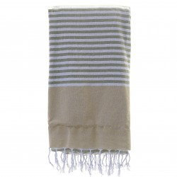 Fouta beige sin toalla - 90x180cm