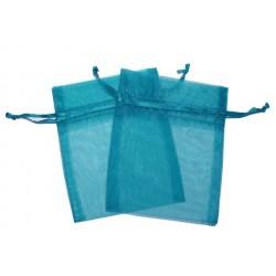 30 Bolsas organza 10x13cm - Azul claro