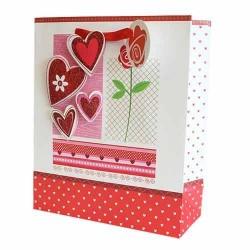 12 Bolsas de regalo lujo - corazones y rosas