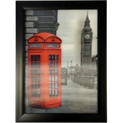 Cuadros HD 3D - Cabina telefónica Big Ben