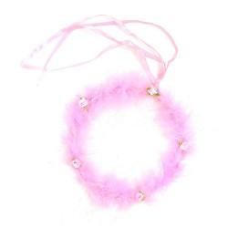 12 Diademas fiesta - halo rosa