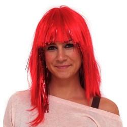Peluca punky roja