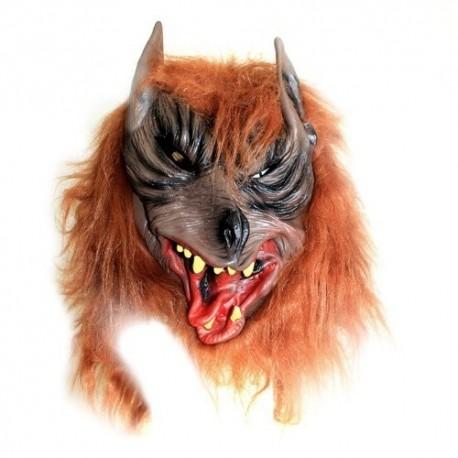 2 Máscaras miedo - cabeza lobo