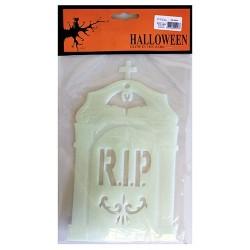 6 Big Halloween Glow Pack - Lápida RIP