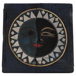 Caja madera sol y luna 20x20x7cm