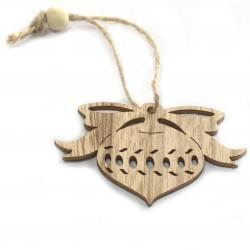 6 Packs 3 colgantes decoración madera navideña - chuchería
