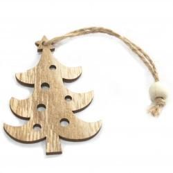6 Packs 3 colgantes decoración madera navideña - árbol de navidad