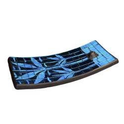 Set 3 soportes Incienso - palmera azul