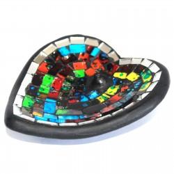 2 Soportes incienso mosaico - estilo marroquí corazón