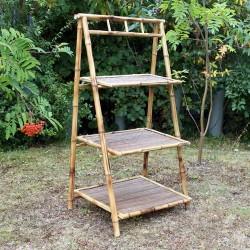 Expositores bambú - 3 baldas