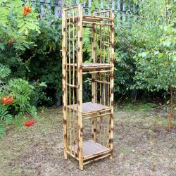 Expositores bambú cuadrado - 4 baldas