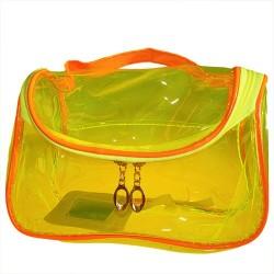 6 Bolsas maquillaje grande - amarillo y naranja