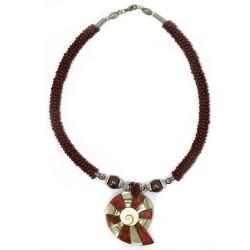 Collar perla y nácar - rubí