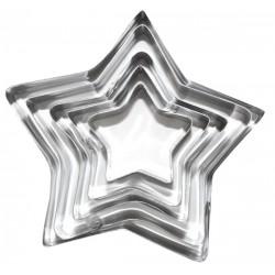 10 Cortapastas moldes - estrella