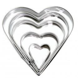 10 Cortapastas moldes - corazón