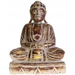 Estatua Buda madera tallada 30cm