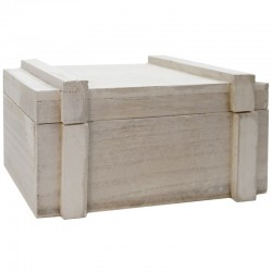 Caja madera con tapa blanca 19.5x14.5x9cm