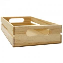 Caja banda lateral madera natural 22x14x5cm