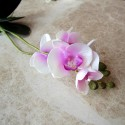 Orquídeas artificiales en maceta