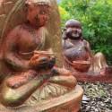 Budas de terracota rústicos